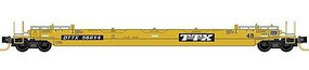 Micro-Trains 70' Husky-Stack Well Car with 48' Well 16-Pack Ready to Run TTX (clean paint, yellow, black) N-Scale