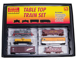 Micro-Trains Table Top Set with Track Southern Pacific N Scale Model Train Set #99303330