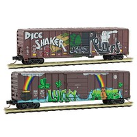 Micro-Trains Weathered Box Lucky 2/ - N-Scale
