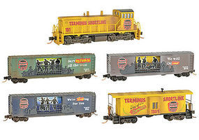 Micro-Trains Zombie Halloween Train-Only Set - Terminus Shortline N Scale Model Train Set #99321230