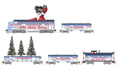 Micro Trains Line White Xmas Delivery Set - N-Scale