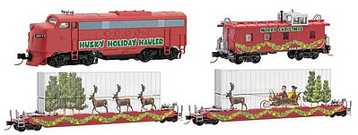 Micro Trains Line Holiday Hauler Train Set - N-Scale