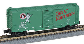 Micro-Trains 40 Boxcar Runner Pack Great Northern (4) Z Scale Model Train Freight Car Set #99400068