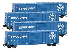 Micro-Trains 50' Rib Box Pan Am 4/ Z-Scale