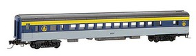 Micro-Trains Smooth-Side Coach 4-Pack - Ready to Run Chesapeake & Ohio 5501, 5503, 5505, 5507 (gray, blue, yellow, black) - Z-Scale