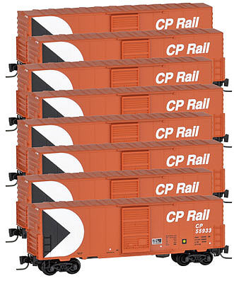 Micro Trains Line 40' Single Door Boxcar Canadian Pacific Rail (8) -- Z Scale Model Train Freight Car -- #99400807