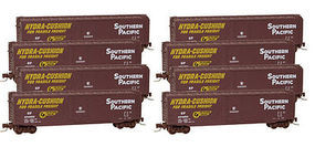 Micro-Trains 50' Std Boxcar Southern Pacific (8) Z Scale Model Train Freight Car Set #99400808