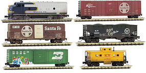 Micro-Trains Weathered Set ATSF 6/ - Z-Scale