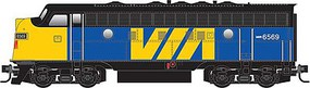 Micro-Trains 4-Car Passenger Set - Ready to Run 3 Streamlined Coaches, 1 Modernized Business Car, VIA Rail Canada (blue, yel - Z-Scale