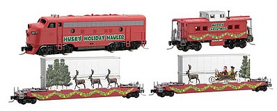 Micro Trains Line Holiday Hauler Train Set - Z-Scale