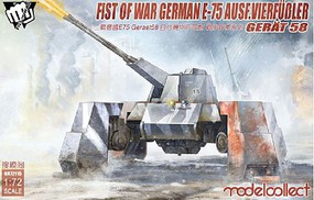 Model-Collect 1/72 Fist of War WWII German E75 Ausf Vierfubler Gerat 58 Tank (New Tool)