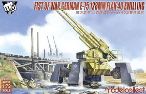 Model-Collect 1/72 Fist of War WWII German E75 Flak 40 Zwilling Panzer Tank (New Tool)
