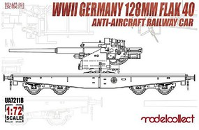 Model-Collect 1/72 WWII German 128mm Flak 40 Anti-Aircraft Railway Car (New Tool)