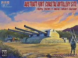 Model-Collect 1/72 Austratt Fort Coastal Artillery Site w/Triple 28cm 11-Inch Gun Turret Caesar