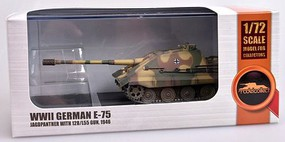 Model-Collect 1/72 WWII German E75 Jagdpanther Tank w/128/L55 Gun 1946 (Assembled Plastic)