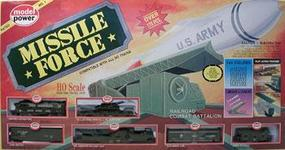 Model-Power Missile Force E-Z Track HO Scale Model Train Set #1068