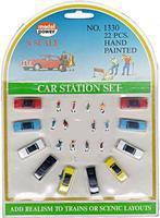 Model-Power Cars & Figure Set N Scale Model Railroad Vehicle