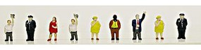 Model-Power Fat People (9) N Scale Model Railroad Figure #1333
