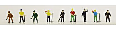 Model-Power Work Crew Figures (12) N Scale Model Railroad Figure #1337