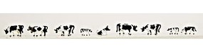 Model-Power Cows & Calves Black & White (9) N Scale Model Railroad Figure #1350
