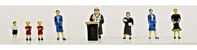 Model-Power Pastor & Congregants with Pulpit (9) N Scale Model Railroad Figure #1352