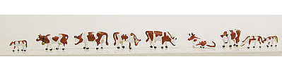 Model-Power Cows Brown & White (9) N Scale Model Railroad Figure #1353