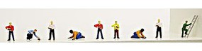 Model-Power Mason & Bricklayers (9) N Scale Model Railroad Figure #1368