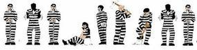 Model-Power Prisoners (Black and White Stripes) N Scale Model Railroad Figure #1376