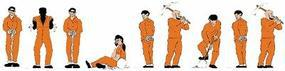 Model-Power Prisoners (Orange) N Scale Model Railroad Figure #1377