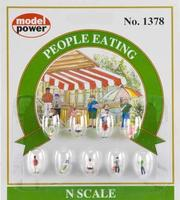Model-Power People Eating N Scale Model Railroad Figure #1378