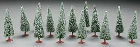 Model-Power Snow Trees 6 HO Scale Model Railroad Tree #1427