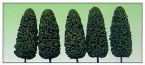 Model-Power Dark Green Summer 8 Trees (5) O Scale Model Railroad Tree #1436