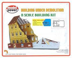 Model-Power Building Under Demolition Kit N Scale Model Railroad Building #1500