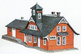 Model-Power Comb. RR Station Kit N Scale Model Railroad Building #1501