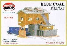 Model-Power Blue Coal Depot Kit N Scale Model Railroad Building #1506