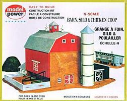 Model-Power Barn w/Silo & Chicken Coop Kit