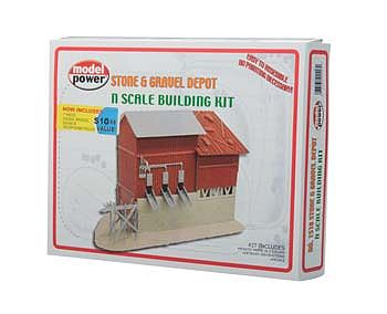 Model-Power Stone and Gravel Depot N Scale Model Railroad Building #1518