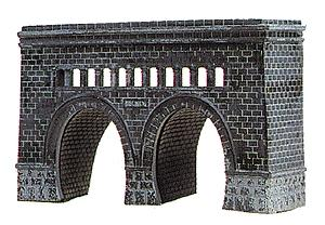 Model Power Double-Tunnel Portal Kit -- N Scale Model Railroad Tunnel -- #1521