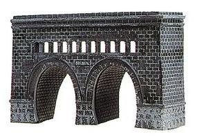 Model-Power Double-Tunnel Portal Kit N Scale Model Railroad Tunnel #1521