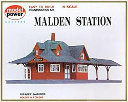 Model-Power Malden Station Kit N Scale Model Railroad Building #1524