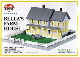 Model-Power Bellas Farm House Kit N Scale Model Railroad Building #1559