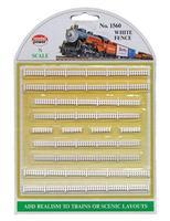 Model-Power White Fences N Scale Model Railroad Trackside Accessory #1560