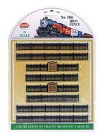 Model-Power Iron Fence Sections (8) N Scale Model Railroad Trackside Accessory #1561