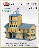 Model-Power Lumber Yard Kit N Scale Model Railroad Building #1565