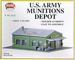 Model-Power US Army Munitions Depot Kit N Scale Model Railroad Building #1574