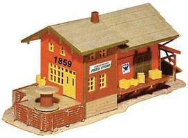 Model-Power Freight Station N Scale Model Railroad Building #1576