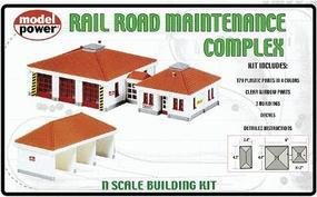 Model-Power Railroad Maintenance Complex Kit N Scale Model Railroad Building #1584
