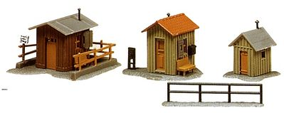 Model Power Trackside Sheds Kit -- N Scale Model Railroad Building -- #1586