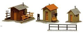 Model-Power Trackside Sheds Kit N Scale Model Railroad Building #1586