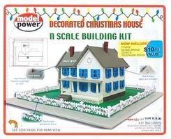 Model-Power Decorated Christmas House N Scale Model Railroad Building #1590